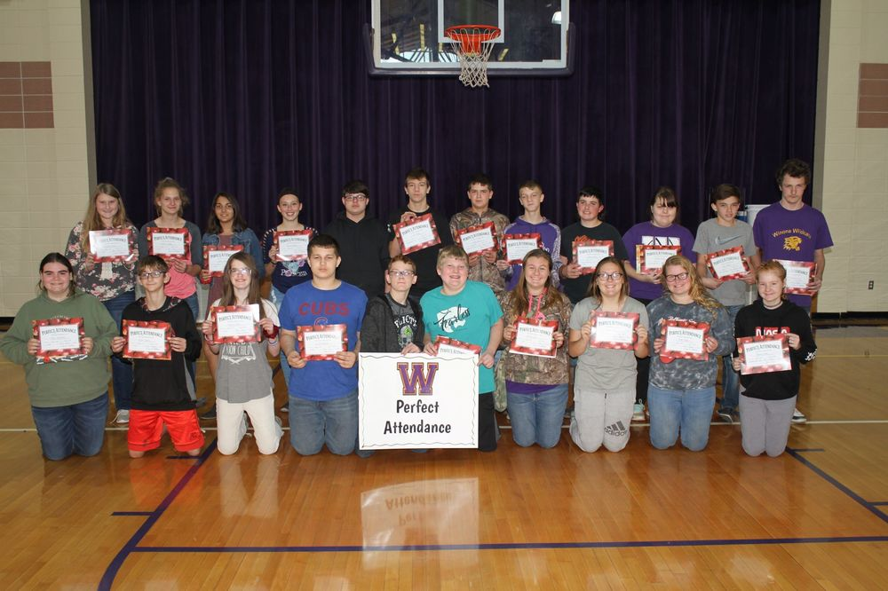 7th & 8th Grade 1st Quarter Perfect Attendance