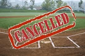 Cancelled baseball game
